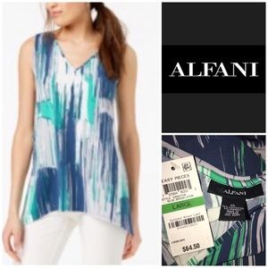 Alfani Size XL NWT Green & White  Tunic